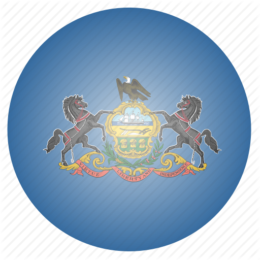 Flag, Pennsylvania, State, Us Icon