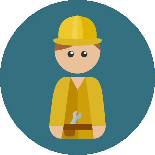 Builder Flat Icon