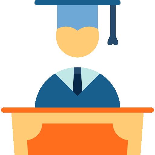 People Graduate Flat Icon