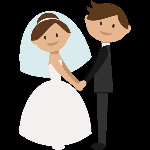Wedding Couple, People, Groom, Bride, Romantic Icon