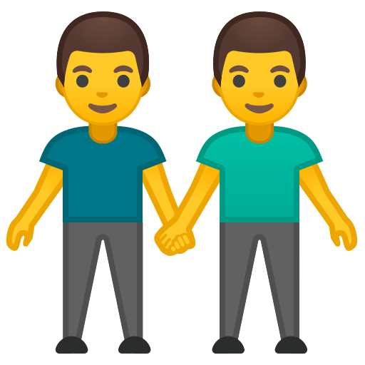Two, Men, Holding, Hands Icon Free Of Noto Emoji People Family