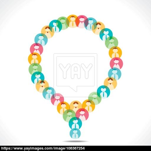 Colorful People Icon Design Message Bubble Vector