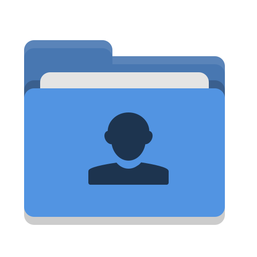 Folder, Blue, Image, People Icon Free Of Papirus Places