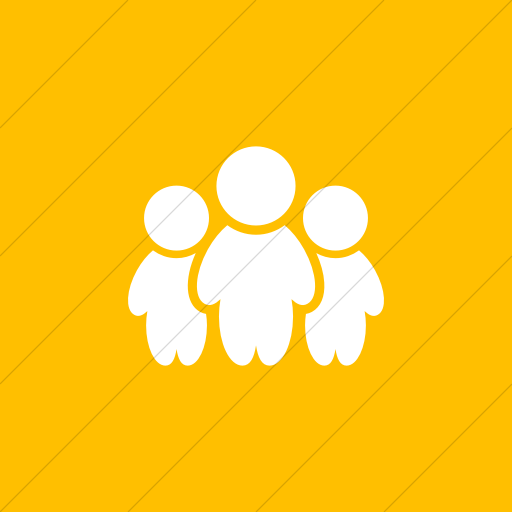 Flat Square White On Yellow Raphael People Icon