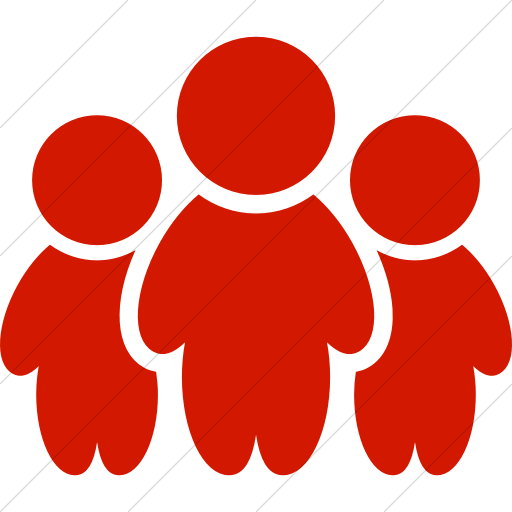 Simple Red Raphael People Icon