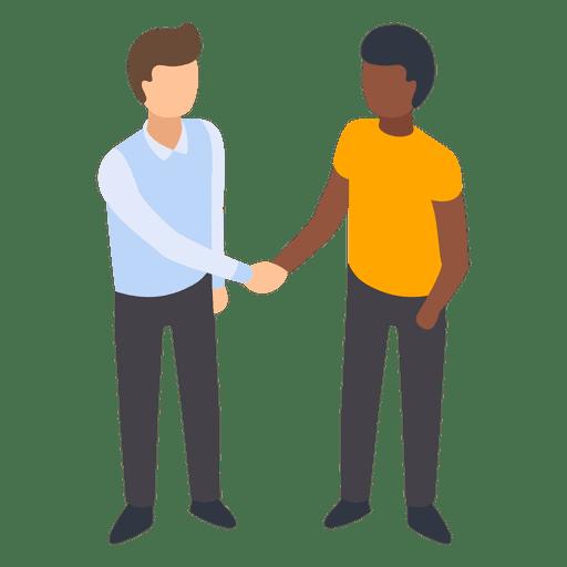 Partner Handshake Flat Illustration