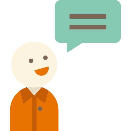 Man, Chatting, Speech Bubble, Talking, People, Speaking Icon