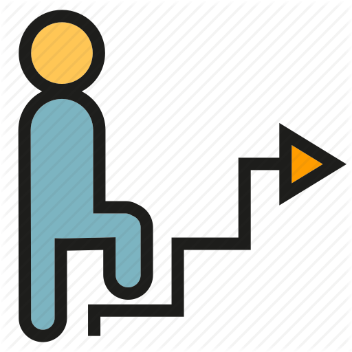 Graph, People, Stair, Step, Walk Icon