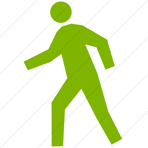Simple Green Classica Student Walking Icon