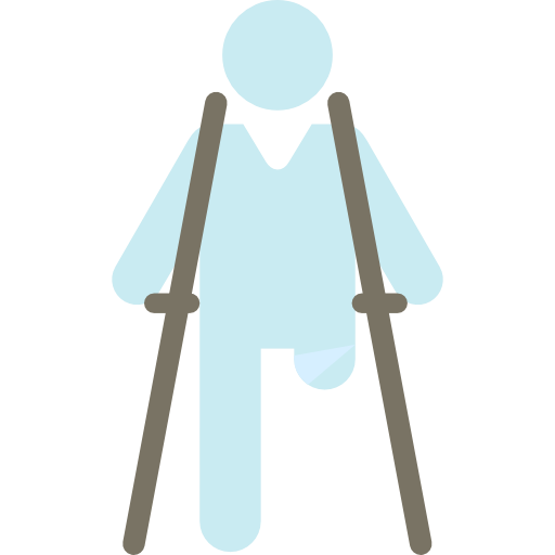Walking, Wounded, Legs, People, Wound, Crutch, Broke, Healthcare