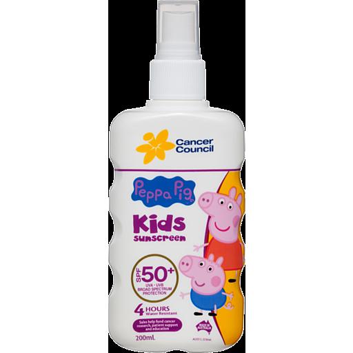 Cancer Council Sunscreen Kids Peppa Pig Spf Spray