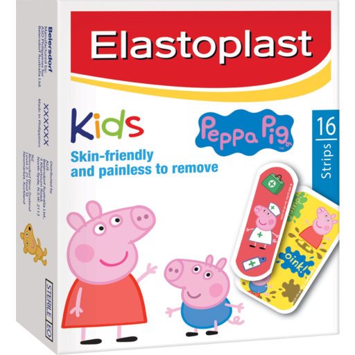 Elastoplast Strips Kids Skin Friendly And Painless To Remove Peppa