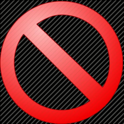 Ban, Cancel, Delete, Embargo, Entry, Exit, Interdict, No, Penalti