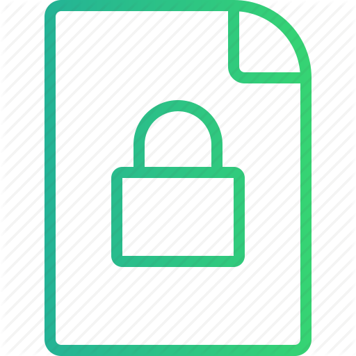 Data, File, Locked, Locked File, Permission, Protection, Security Icon