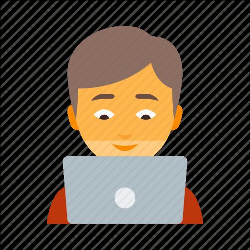 Boy, Computer, Laptop, Male, Man, Notebook, Technologist Icon