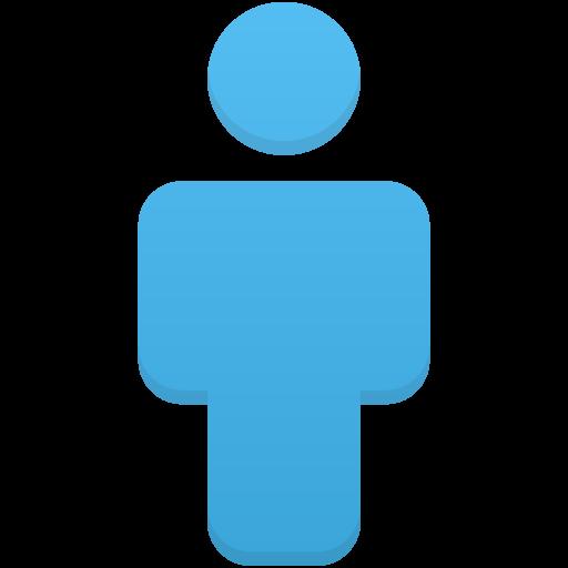 User Blue Icon Flatastic Iconset Custom Icon Design