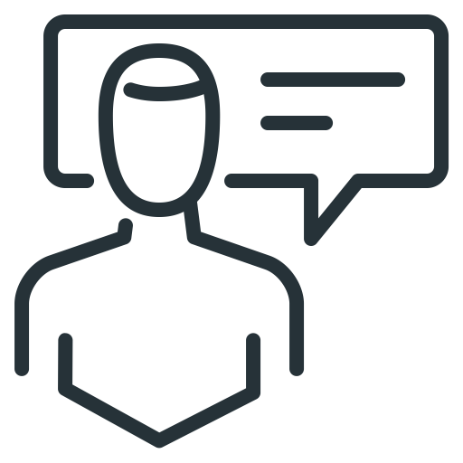 Comment, Communication, Man, Person Icon
