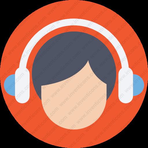Download Customer,service,support,avatar,person Icon Inventicons