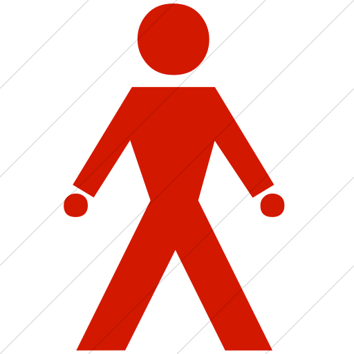 Simple Red Classica Walking Man Icon
