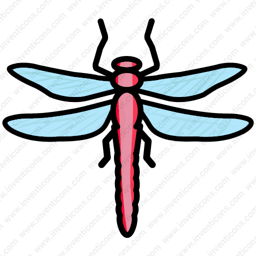 Download Bug,creature,dragonfly,insect,fly Icon Inventicons