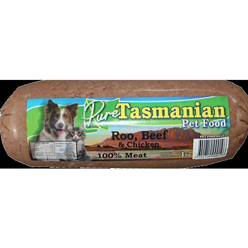 Tasmanian Pet Food Tasmanian Pet Food Roo Beef Chicken