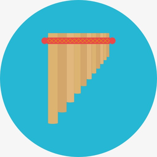 A Pan Flute, Panpipes, Musical Instruments, Cartoon Png Image