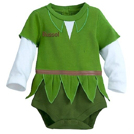 Peter Pan Baby Bodysuit With Cap Costume Cotton Infant
