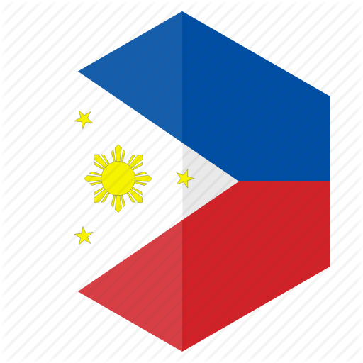 Asia, Country, Design, Flag, Hexagon, Philippines Icon