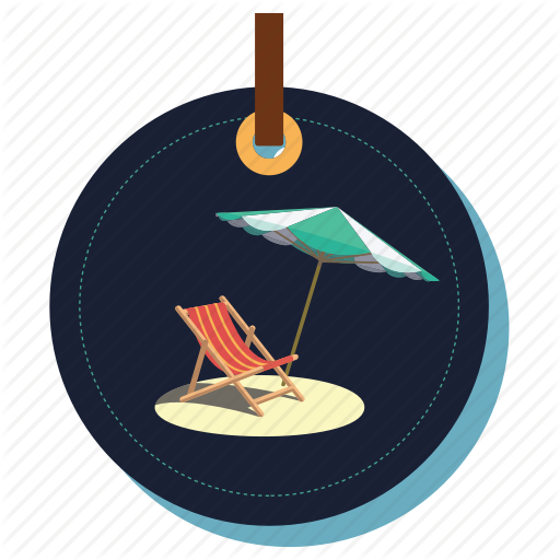 Armchair, Beachchair, Beachmasti, Chair, Seat, Umbrella Icon