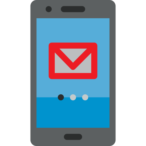 Email, Mobile, Phone, Smartphone Icon Free Of Colored Hand Phone Icons