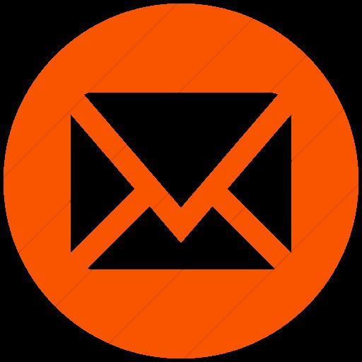 Simple Orange Social Media Mail Icon