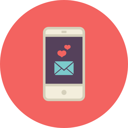 Mobile, Love, Mail Icon Free Of Flat Retro Communications Icons
