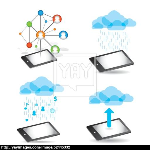 Cloud App Icon On Mobile Phone Vector Icons Vector