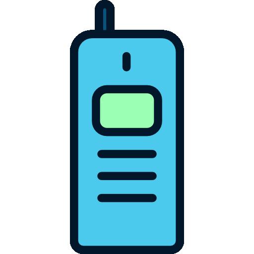 Technology Telephone Flat Black Icon