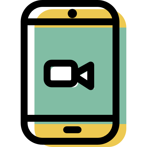 Smartphone, Video, Camera Icon Free Of Color Interaction Assets Icons