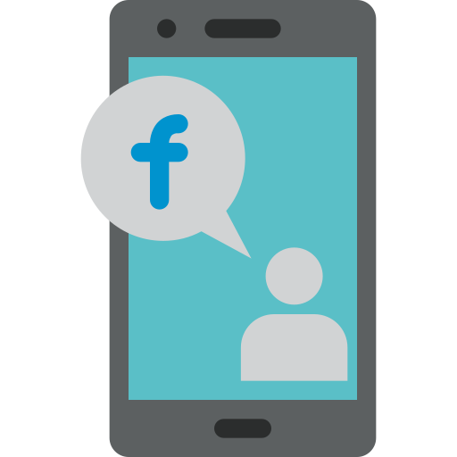Facebook, Mobile, Phone, Smartphone Icon Free Of Colored Hand