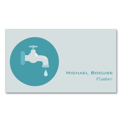 Plumber Tap Icon Illustration Business Card Templates