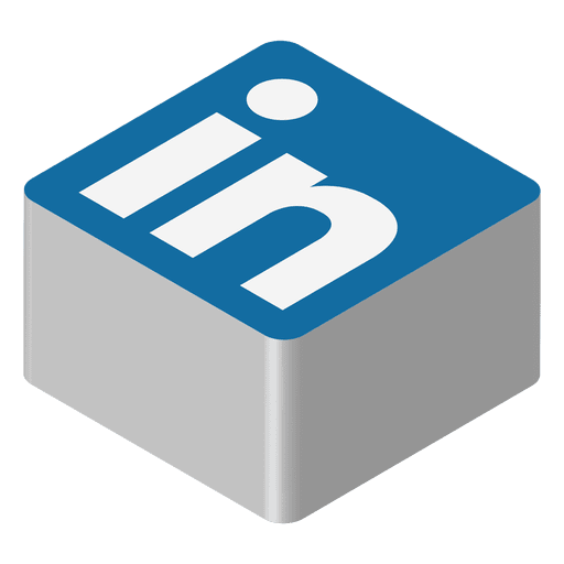 Unique Linkedin Isometric Icon Transparent Png Vector