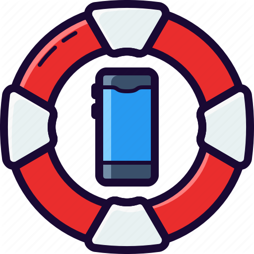 Belt, Fix, Life, Phone, Repair, Rescue, Service Icon