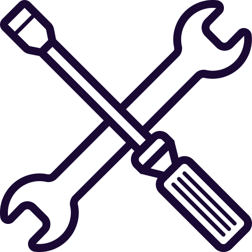 Driver, Mobile, Phone, Repair, Screw, Service, Wrench Icon