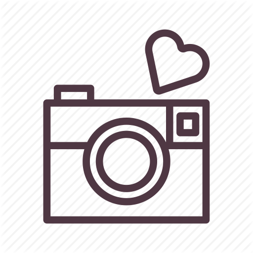 Camera, Capture, Heart, Love, Moment, Romantic, Valentine Icon