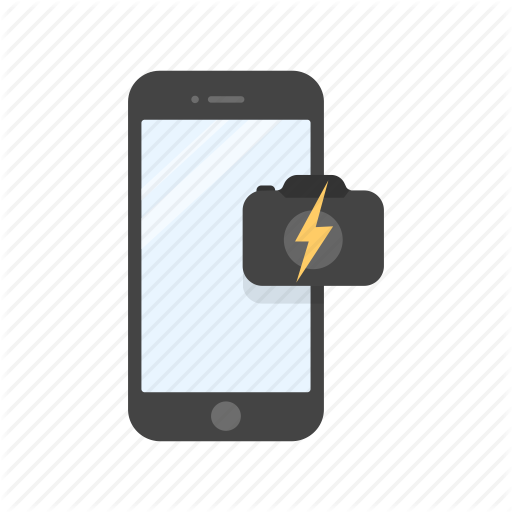 Camera Flash, Capture, Flash, Mobile Camera Icon