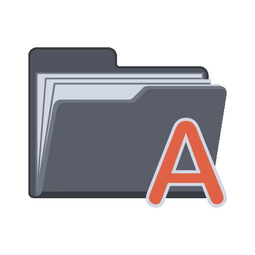 Alphabet Folder Icon Flat Folder Iconset Pelfusion
