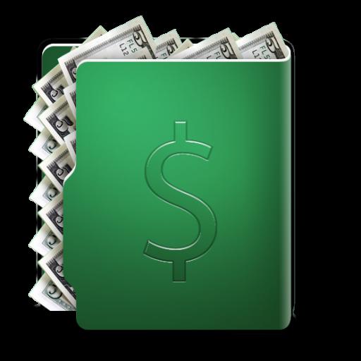 Dollar Folder Icon Aquave Cash Iconset Tribalmarkings