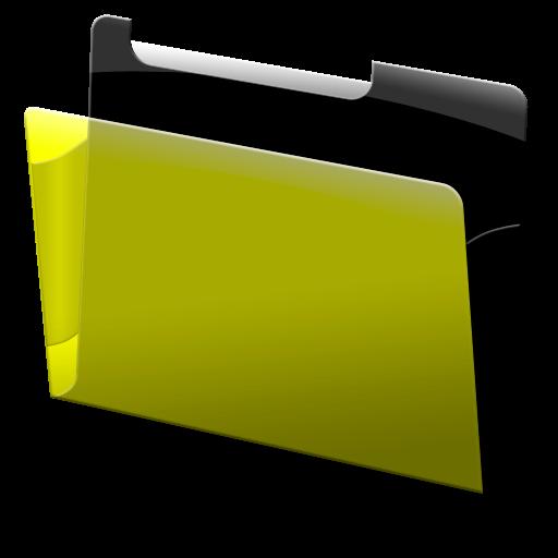 Labeled, Yellow, Folder Icon Free Of Bundle Icons