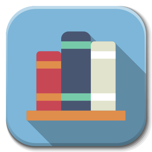Apps Library Icon Flatwoken Iconset Alecive
