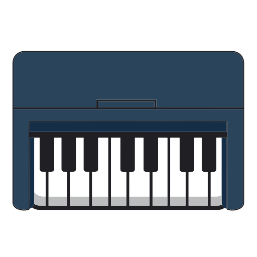 Electric, Piano, Musical, Instrument Icon Free Of Piano