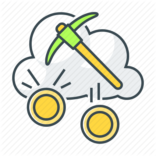 Cloud, Cloud Mining, Coin, Cryptocurrency, Mining, Pick Icon