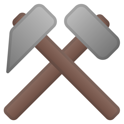 Hammer And Pick Icon Noto Emoji Objects Iconset Google