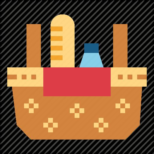 Basket, Food, Holidays, Picnic Icon